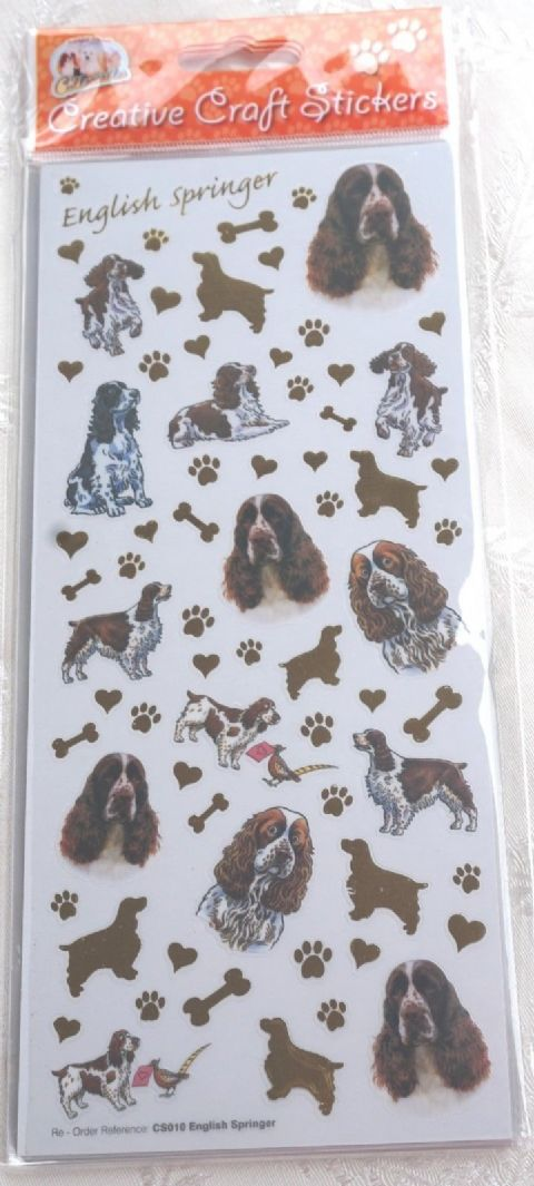 ENGLISH SPRINGER SPANIEL - CRAFT STICKERS SCRAPBOOKING CARD CRAFT
